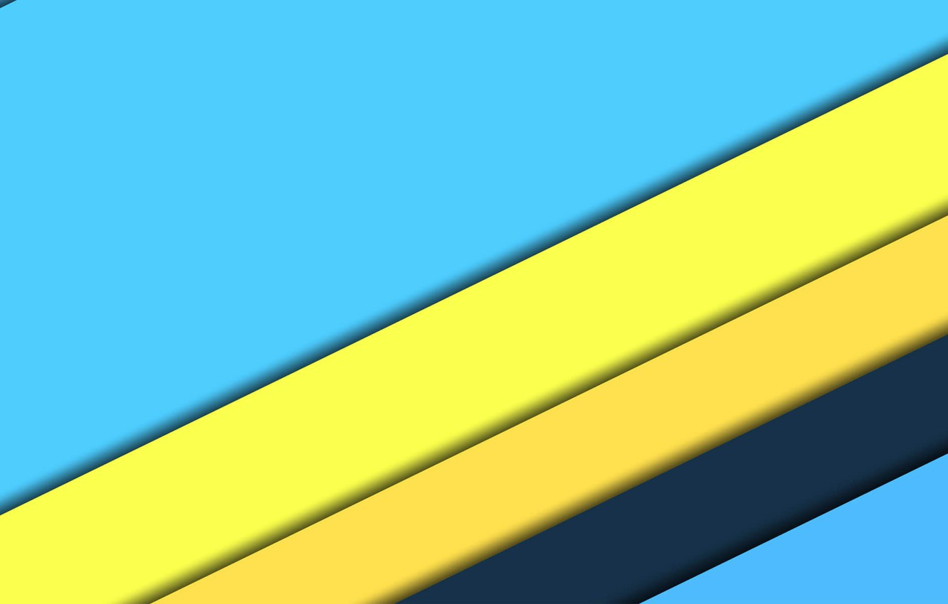 Photo wallpaper line, yellow, blue, texture, design, blue, color, heavenly, material