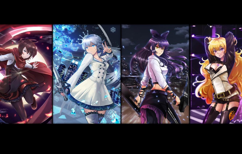 Photo wallpaper girl, sword, weapon, anime, blade, bishojo, RWBY, japonese