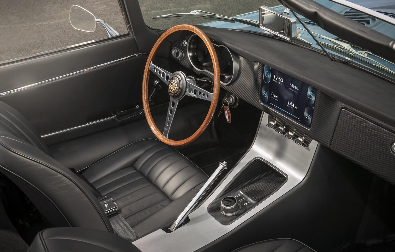 Photo wallpaper Jaguar, concept, Jaguar, prototype, electric car, 2017, Jaguar E-type Zero, lectrosoul