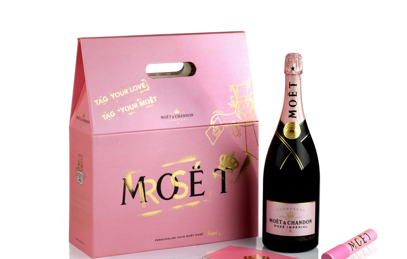 Wallpaper Box Bottle Champagne Packaging Moet Chandon