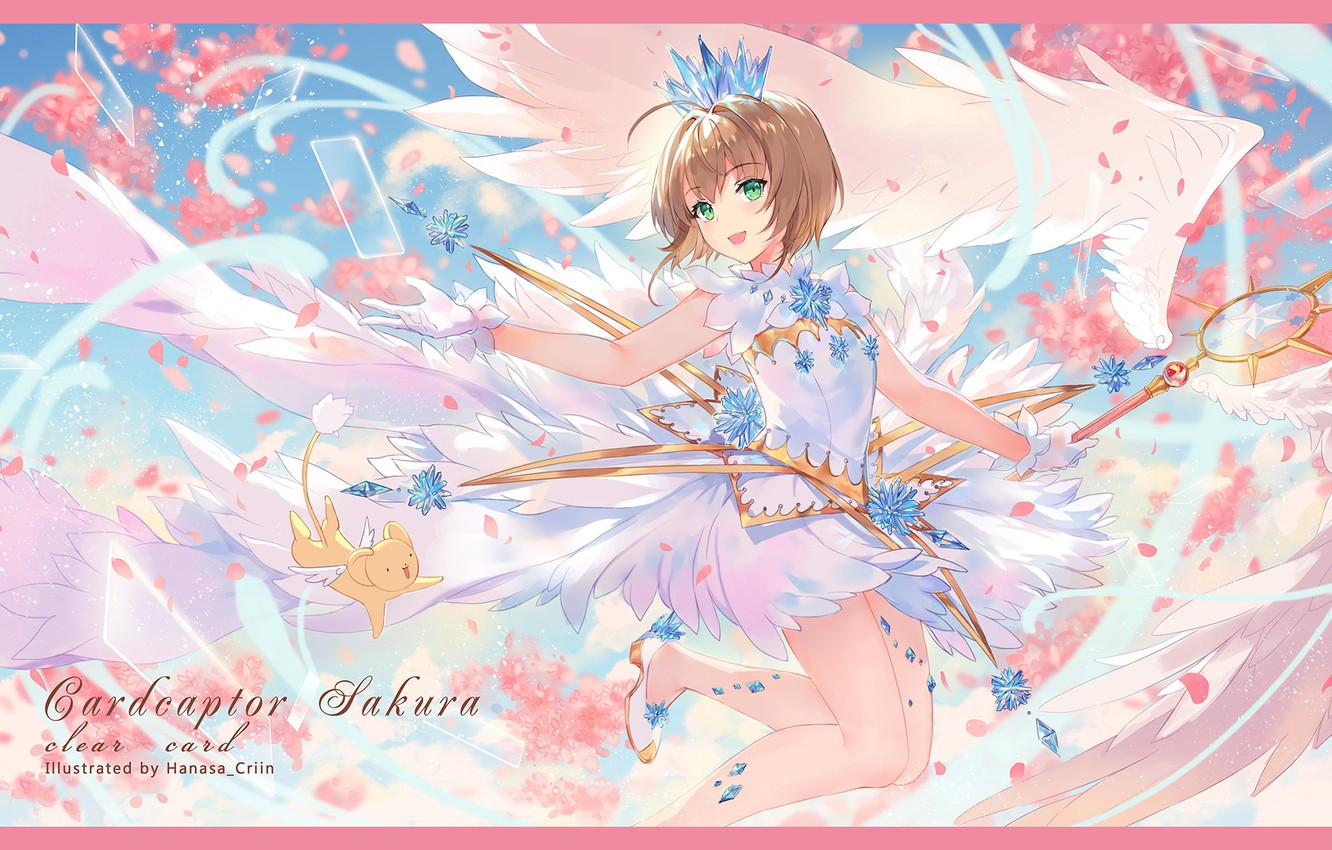 Wallpaper Angel Girl Anime Card Captor Sakura Sakura