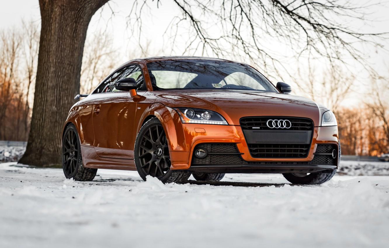 Photo wallpaper Audi, Orange, S-Line