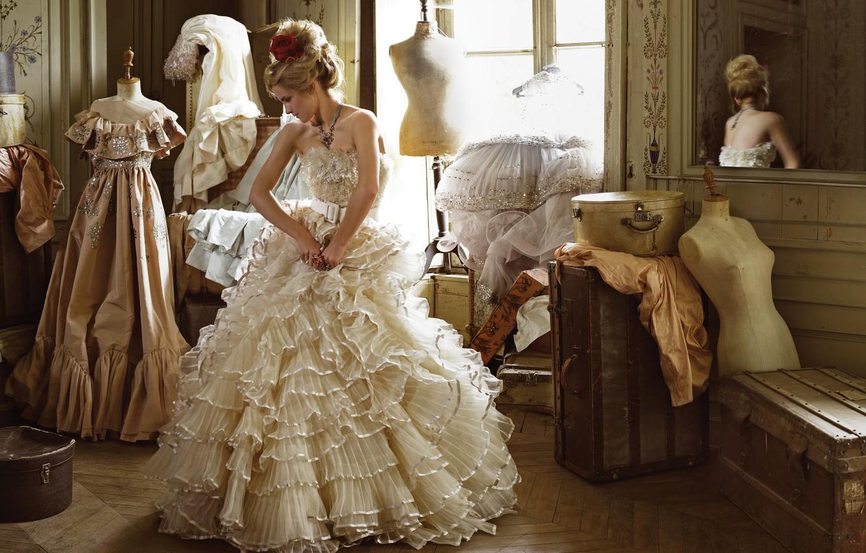 Photo wallpaper reflection, white, clothing, makeup, dress, actress, mirror, hairstyle, outfit, boxes, beauty, Emma Watson, Emma Watson, …