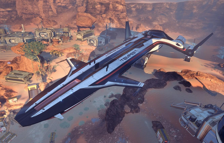 Wallpaper Mass Effect Andromeda Settlement Storm Tempest