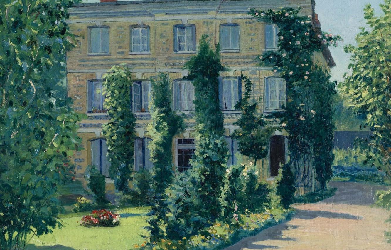 Photo wallpaper landscape, picture, Edward Redfield, House Of Dr. Husson. Offranville. France
