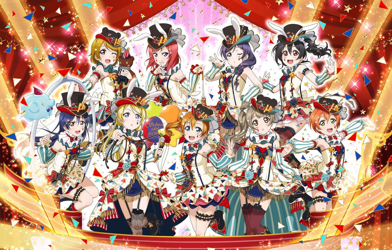 Photo wallpaper girls group anime art love live school idol project