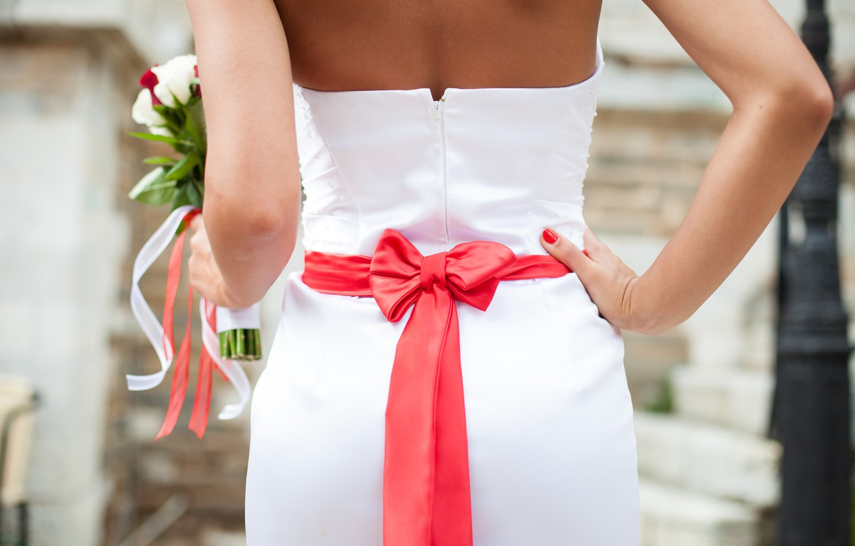 Wallpaper Girl Back Bouquet Dress Tape Red Bow The Bride Dress Wedding Bouquet Wedding Bride Images For Desktop Section Nastroeniya Download,Jcpenney Wedding Dresses Bridal Gowns