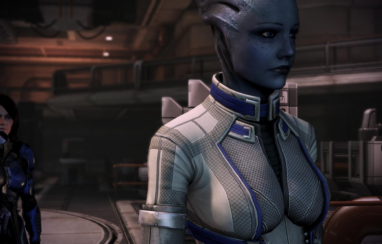 Wallpaper Shepard Shepard Mass Effect 3 Liara Liara
