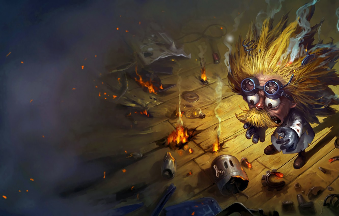Photo wallpaper the game, fantasy, art, league of legends, heimerdinger