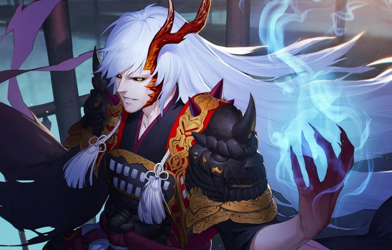 Wallpaper Monster Armor Devil Anime Power Dragon