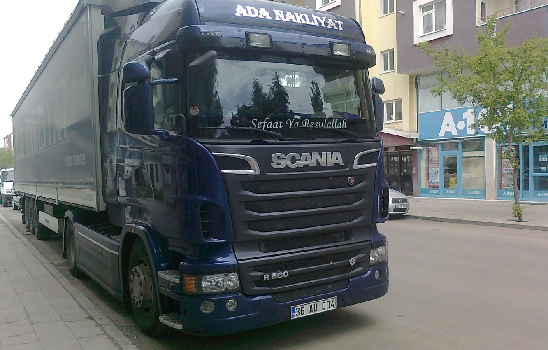 Photo wallpaper truck, scania, r560