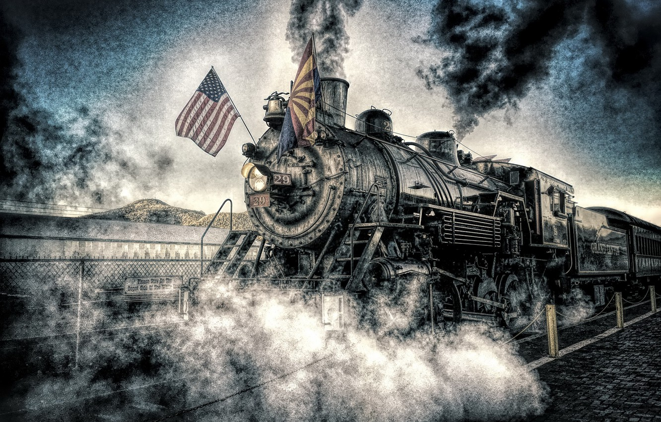 Photo wallpaper background, the engine, flags