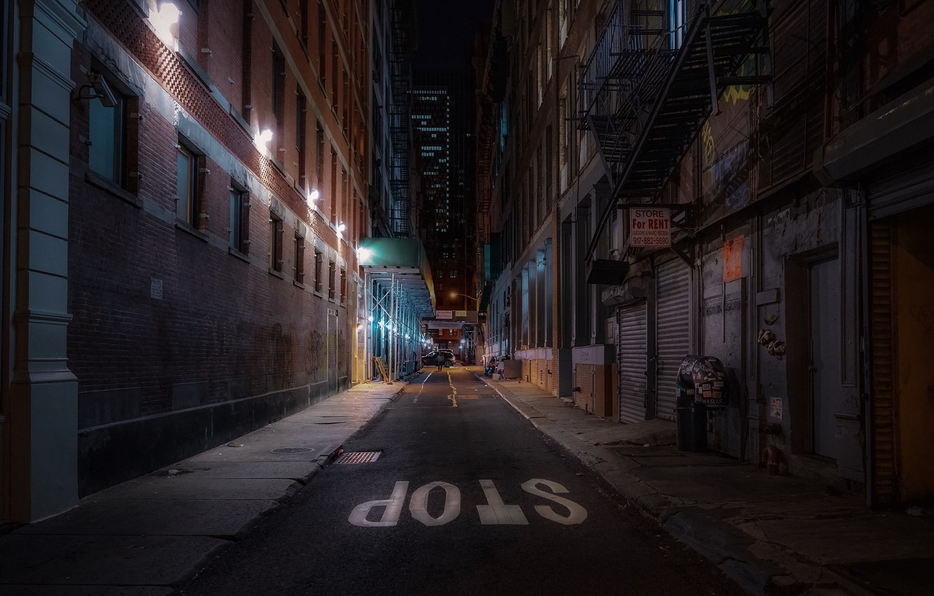 Wallpaper United States Night New York Street Stop Urban Scene Images For Desktop Section Gorod Download