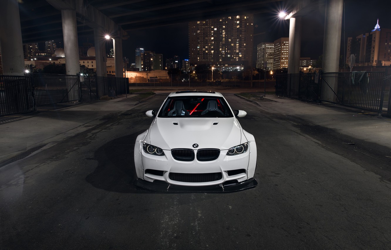 Photo wallpaper BMW, Car, Front, White, E92, Liberty, Walk