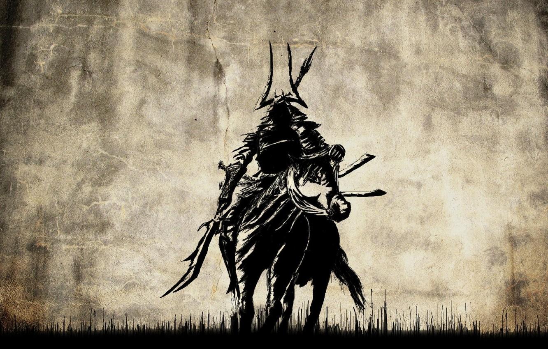 Photo wallpaper samurai, rider, art, Samurai, Tadakatsu Honda