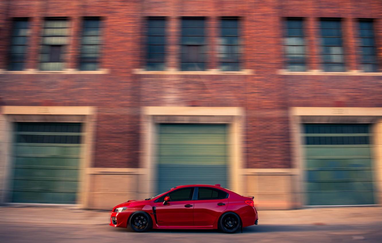 Photo wallpaper background, speed, Subaru, car