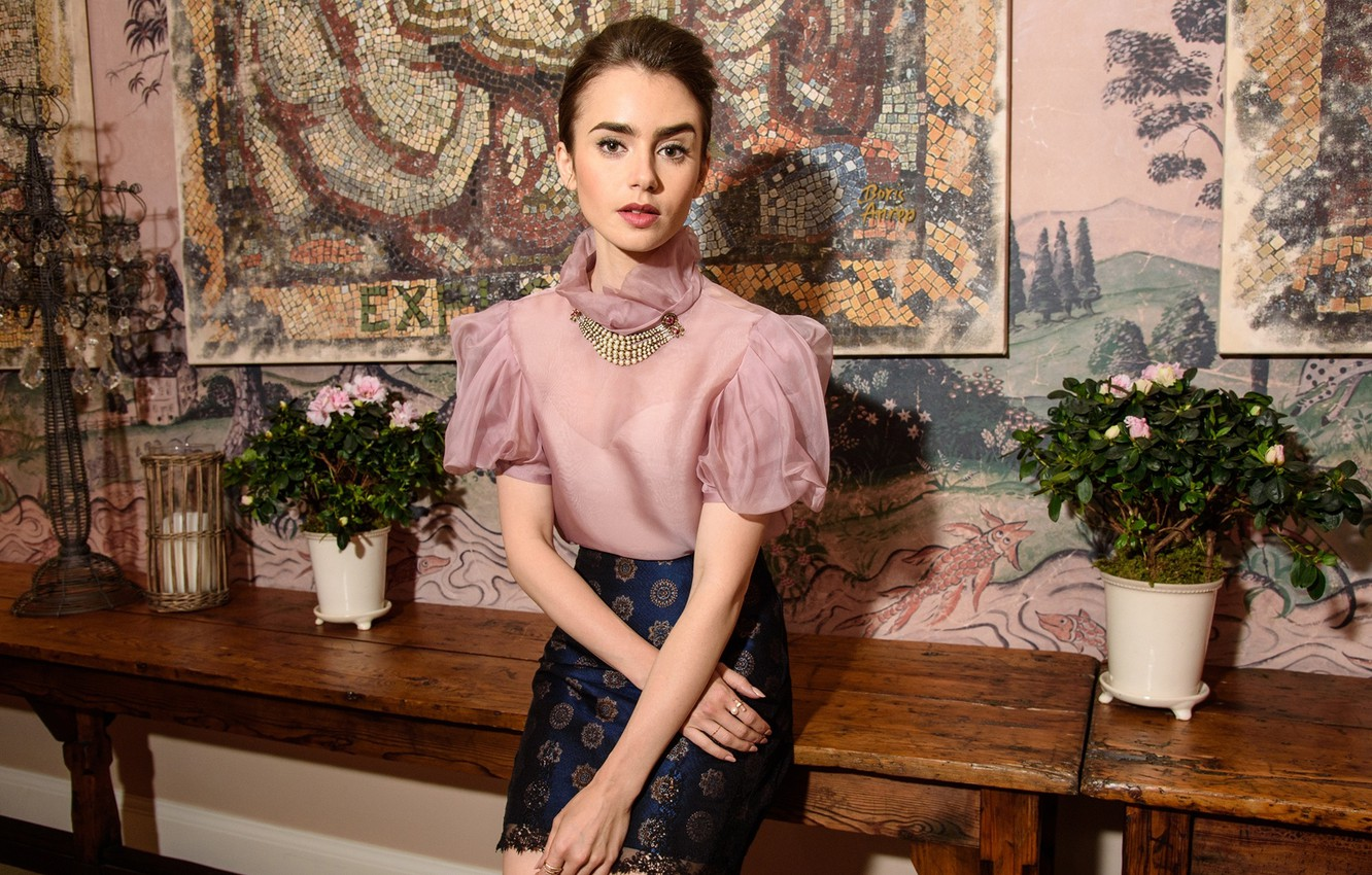 Photo wallpaper actress, brunette, Lily Collins