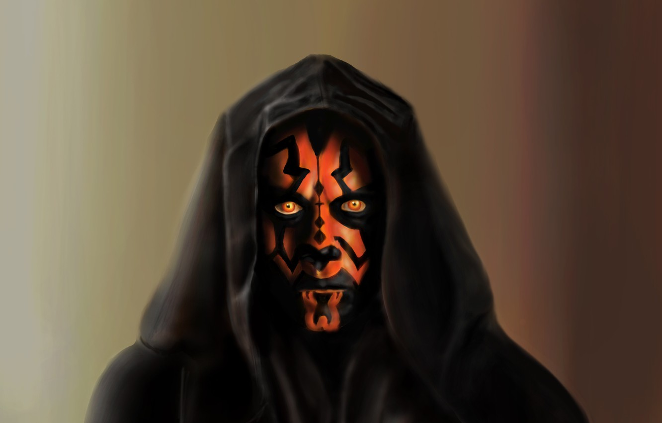 Photo wallpaper Star Wars, star wars, Darth Maul, Painting, Darth Maul, A Sith Lord
