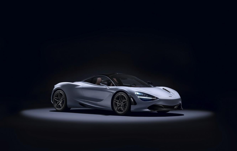 Photo wallpaper McLaren, supercar, black background, Coupe, McLaren, MSO, 720S