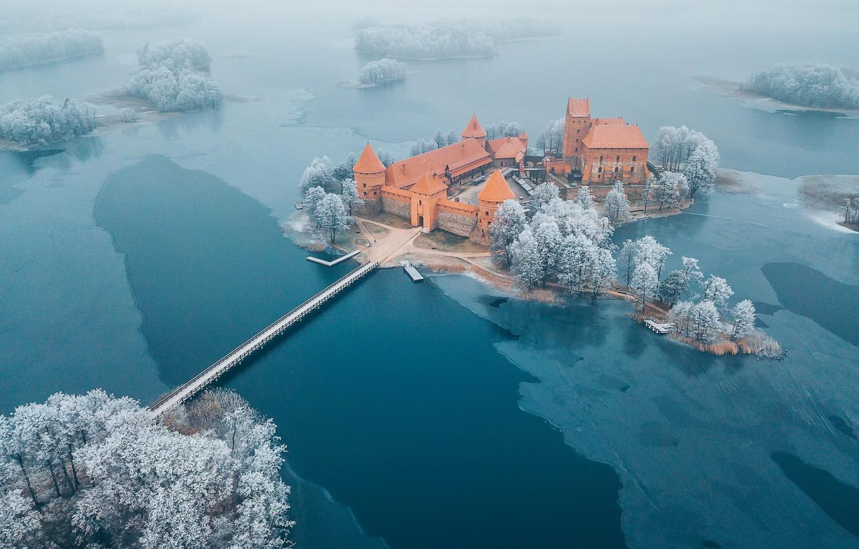 Photo wallpaper Trakai, Lithuania, Island Castle
