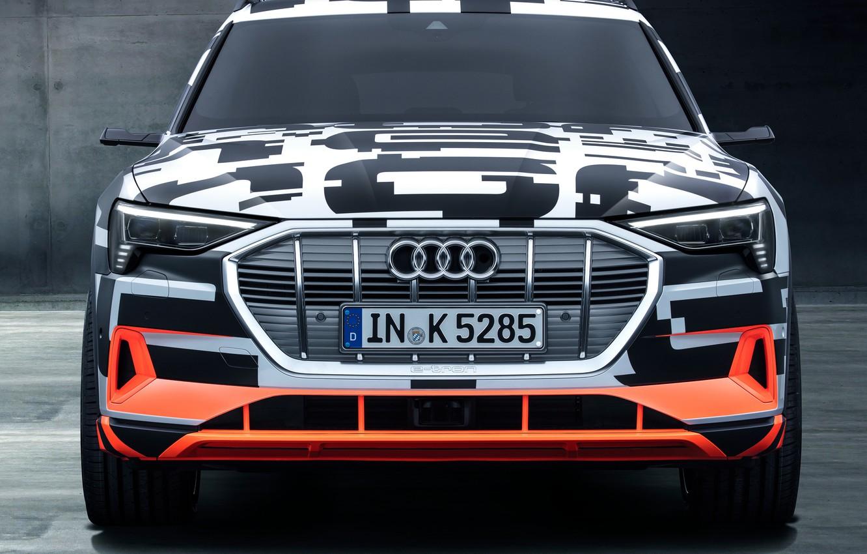 Photo wallpaper Audi, Prototype, front view, 2018, electric, E-Tron