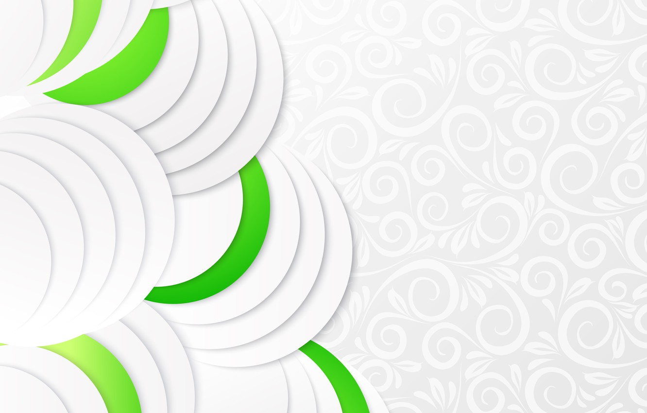 Photo wallpaper circles, green, pattern, texture, Abstract, abstracti, paper, Geometric