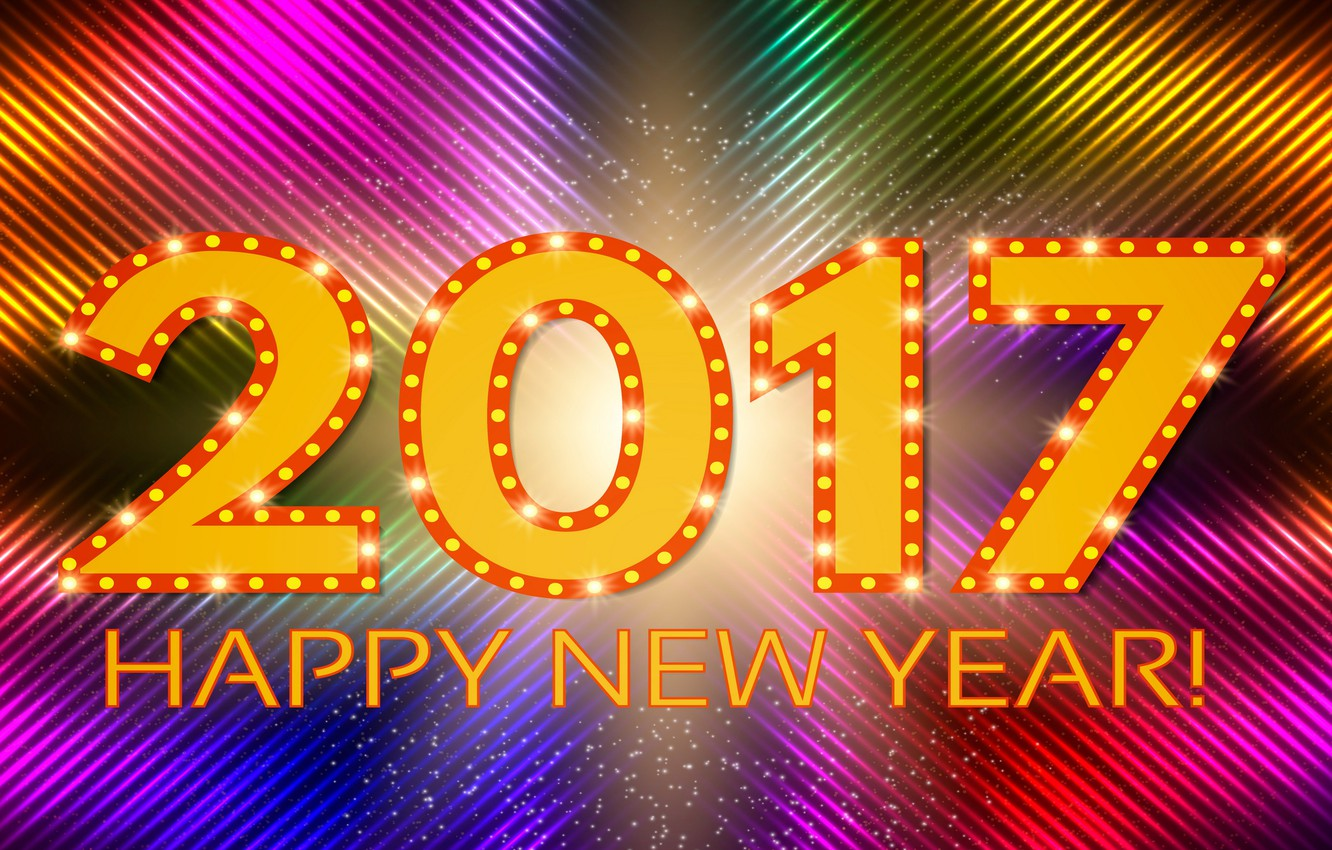 Wallpaper Colorful New Year Abstract Background Neon Happy