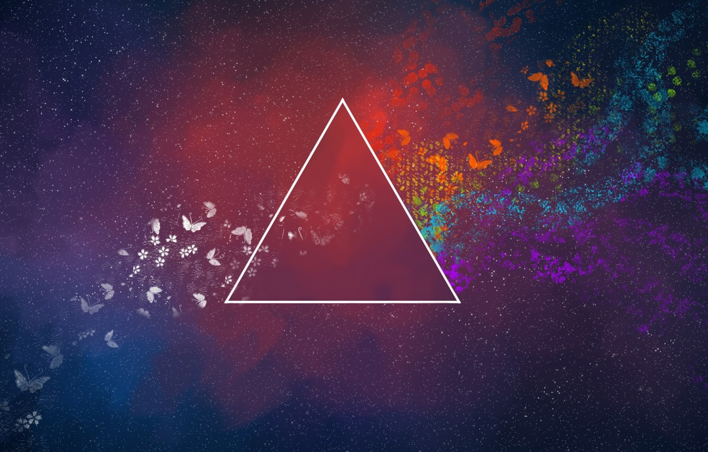 Photo wallpaper Music, Space, Triangle, Pink Floyd, Art, Prism, Rock, Dark side of the moon, Pink Floyd, …