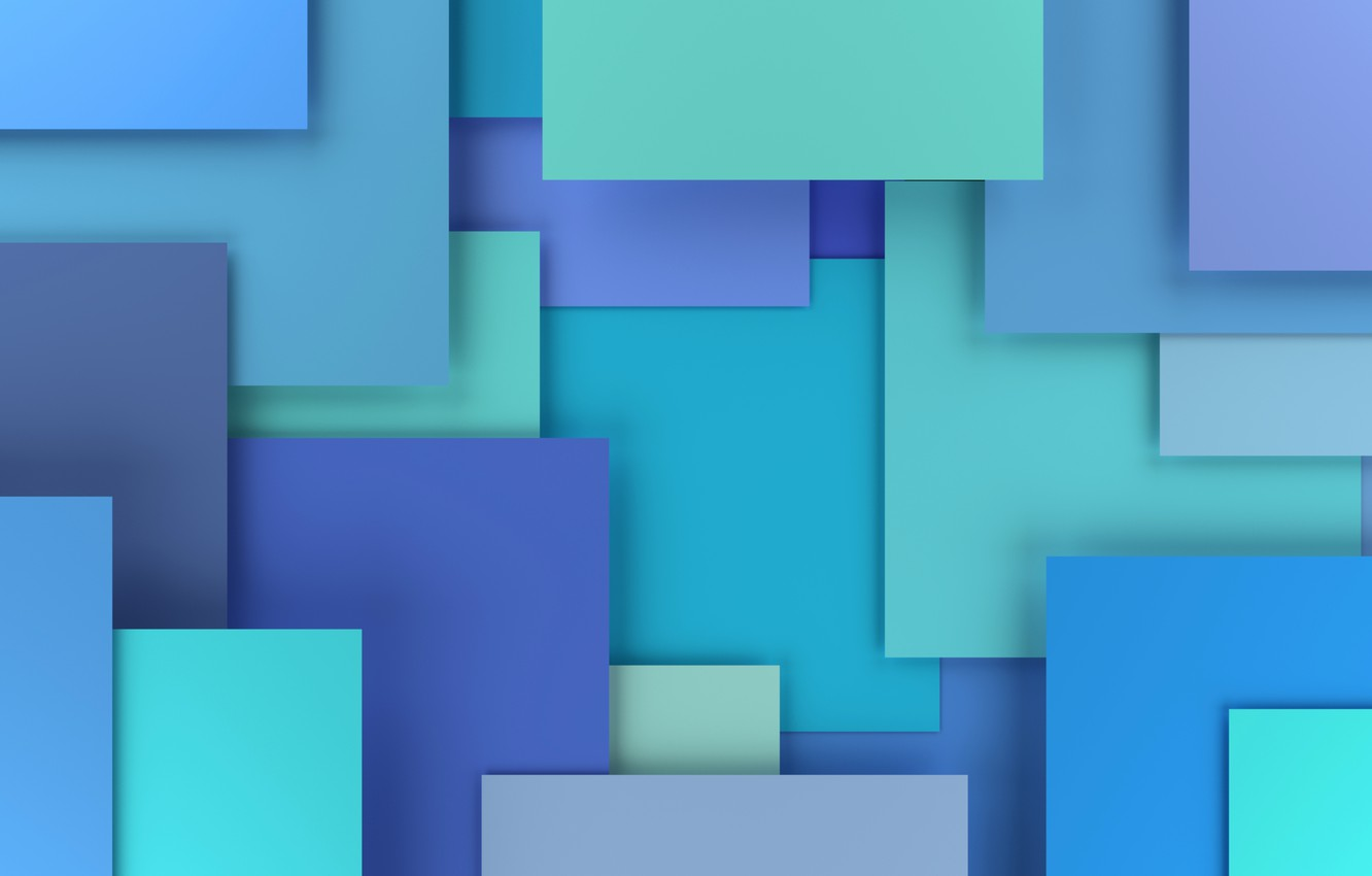 Wallpaper Colorful Abstract Design Blue Background