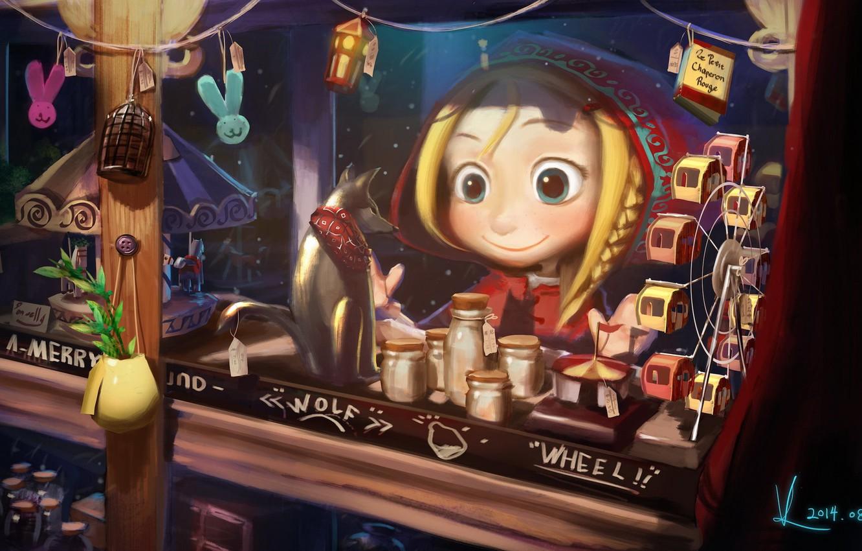 Photo wallpaper baby, shop, showcase, Vaf Fan, Little red riding Hood