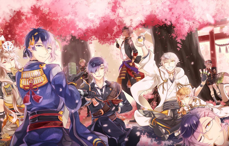 Photo wallpaper anime, art, guys, Touken ranbu, Dance Of Swords
