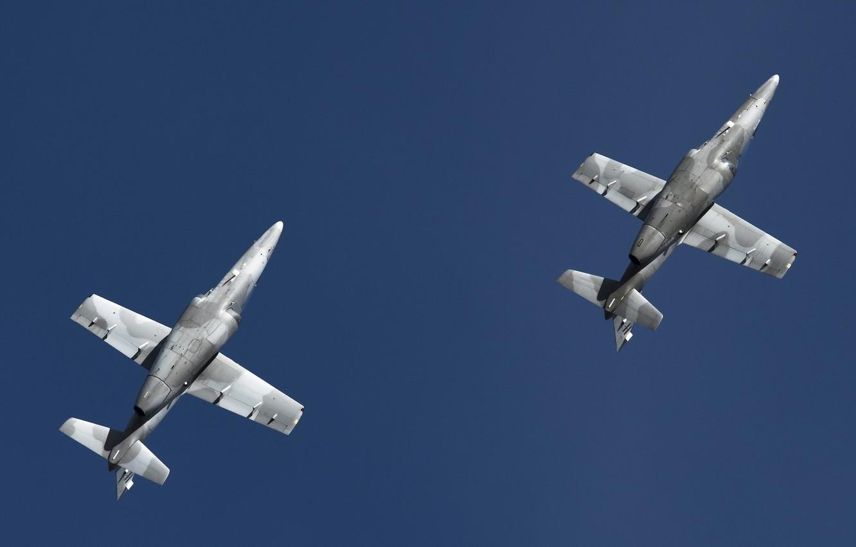 Photo wallpaper the sky, aircraft, air show