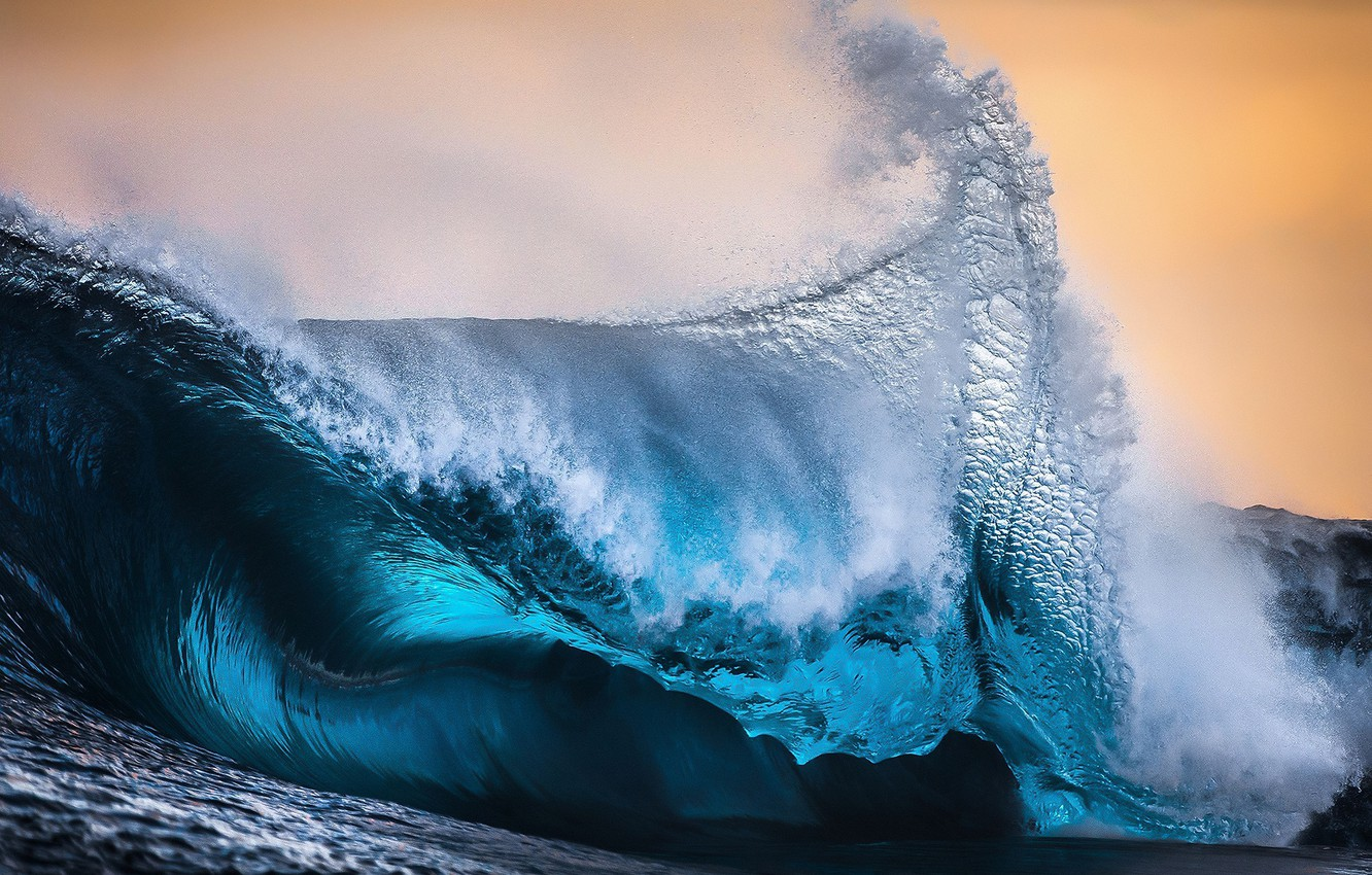 Photo wallpaper sea, wave, squirt, the ocean, wave