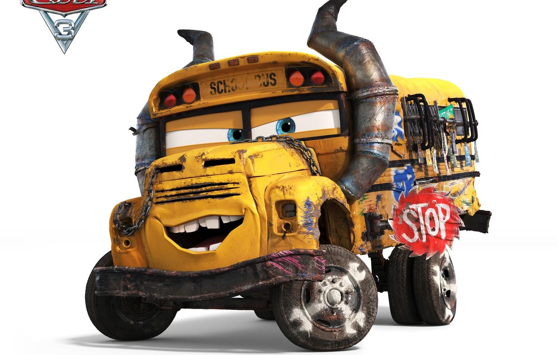 Wallpaper disney pixar cars bus animated film - Disney cars 3 wallpaper ...