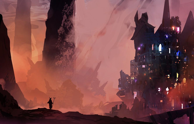Wallpaper Lights City Fantasy Deviantart Castle Digital