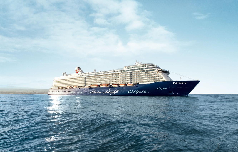 Photo wallpaper Sea, Liner, The ship, Passenger, Passenger liner, TUI Cruises, Royal Caribbean Cruises, Ship, My Ship, …