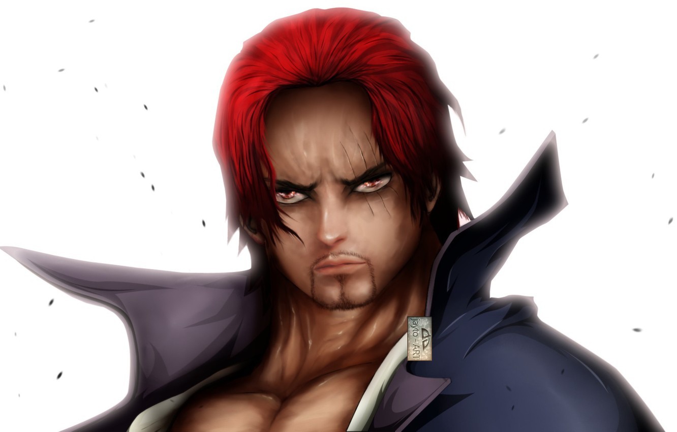 Wallpaper Red Game One Piece Red Hair Pirate Hat Anime Man