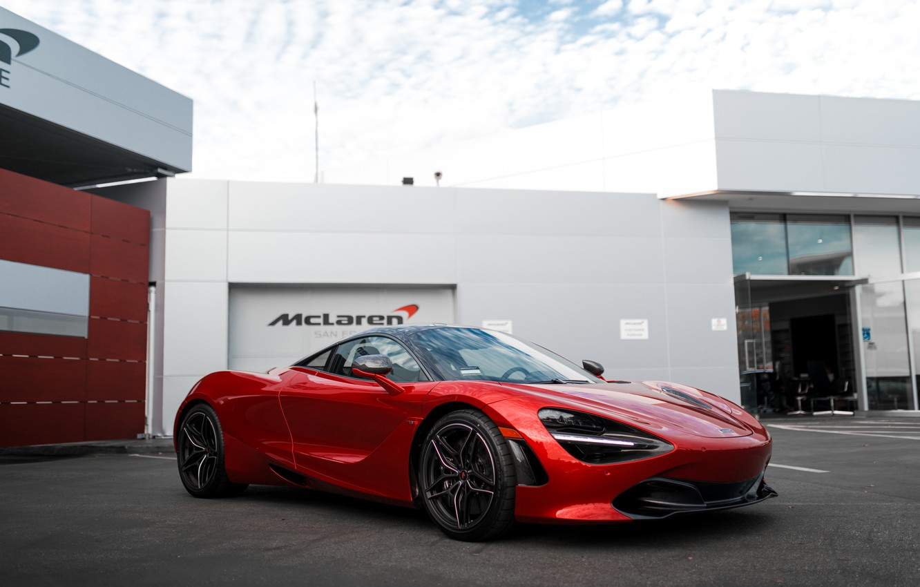 Photo wallpaper Red, mclaren, Memphis, 720s