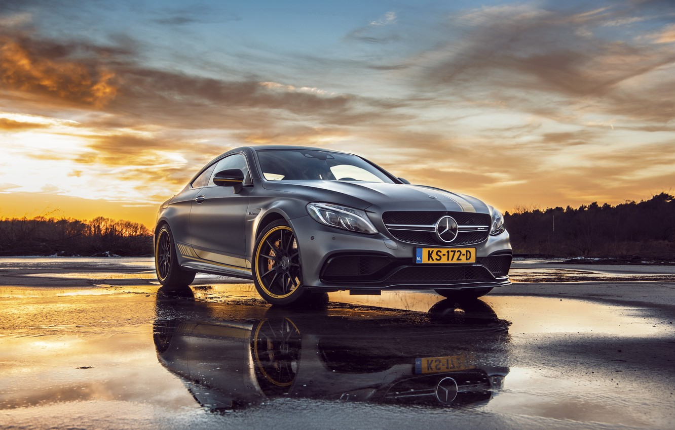 Photo wallpaper Mercedes, AMG, Coupe, C63, Edition 1