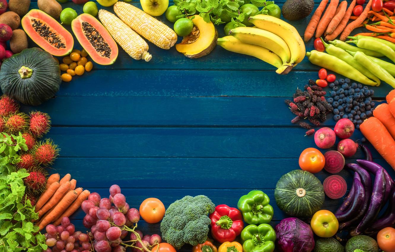 Wallpaper background, Fruit, vegetables, cuts images for ...