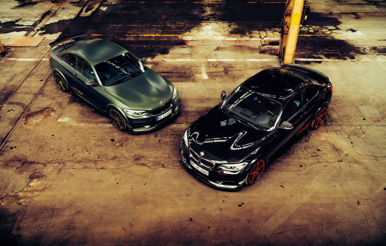Photo wallpaper BMW, Traces, Machine, Lights, Mirror, Drives, Puddles, The View From The Top, ACL2S, M240i, Icons