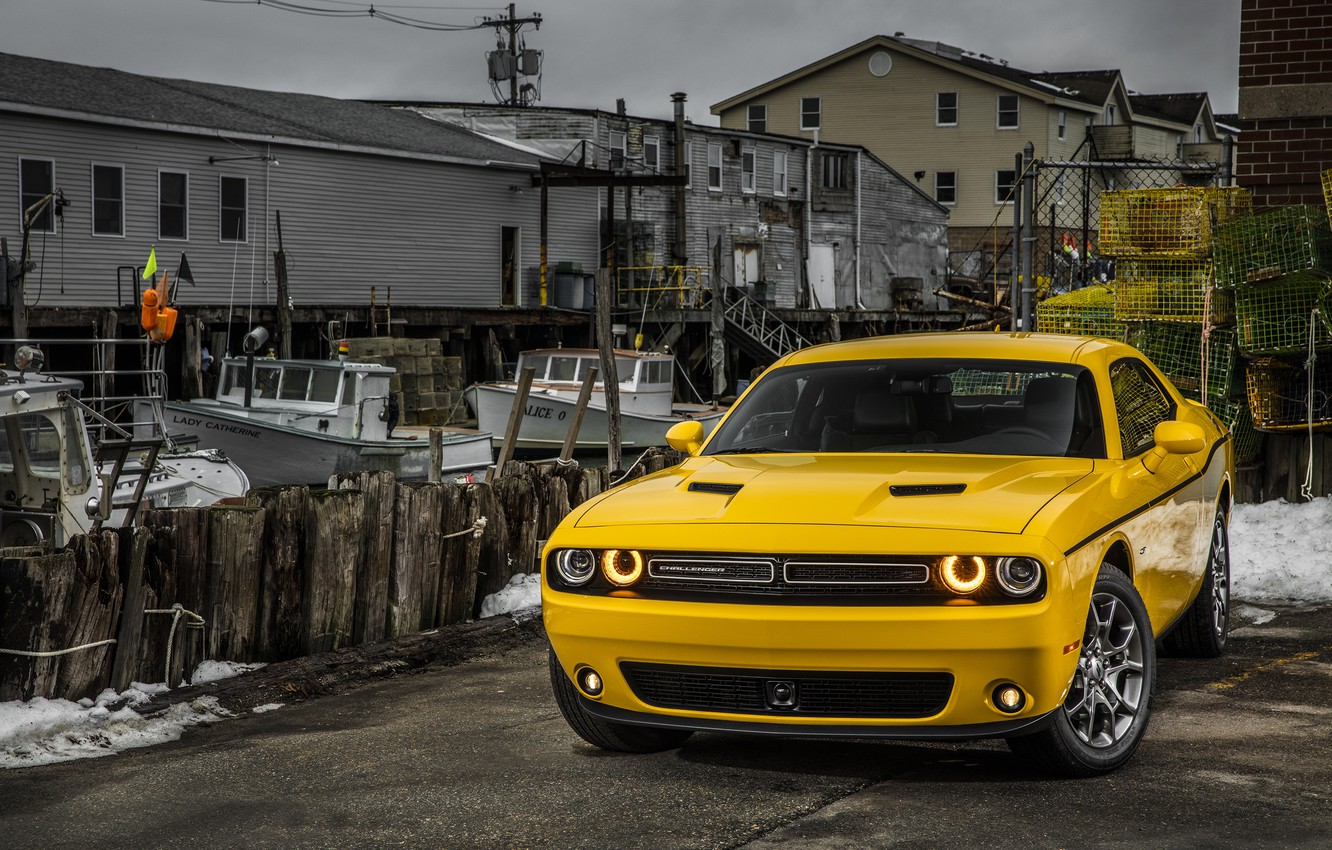 Photo wallpaper Dodge, Challenger, Dodge, Challenger