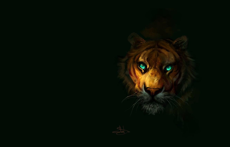 Photo wallpaper tiger, predator, art, by SalamanDra-S