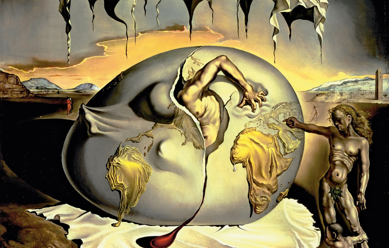 Photo wallpaper surrealism, picture, Salvador Dali, Salvador Dali, Geopolitical Child Watching The Birth Of A, The New …