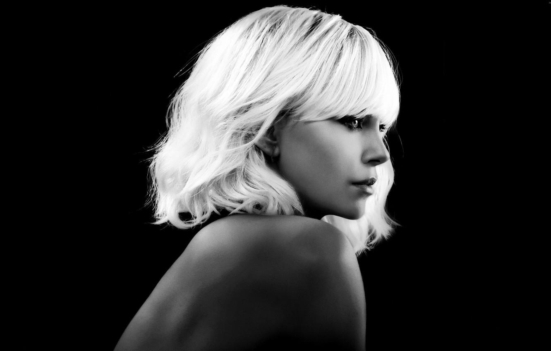 Photo wallpaper Charlize Theron, cinema, woman, movie, blonde, film, pose, Atomic Blonde