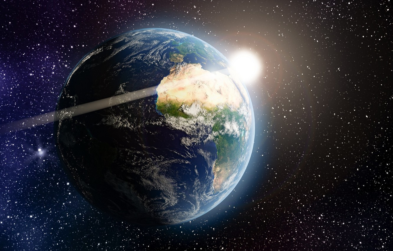 Photo wallpaper space, space, earth