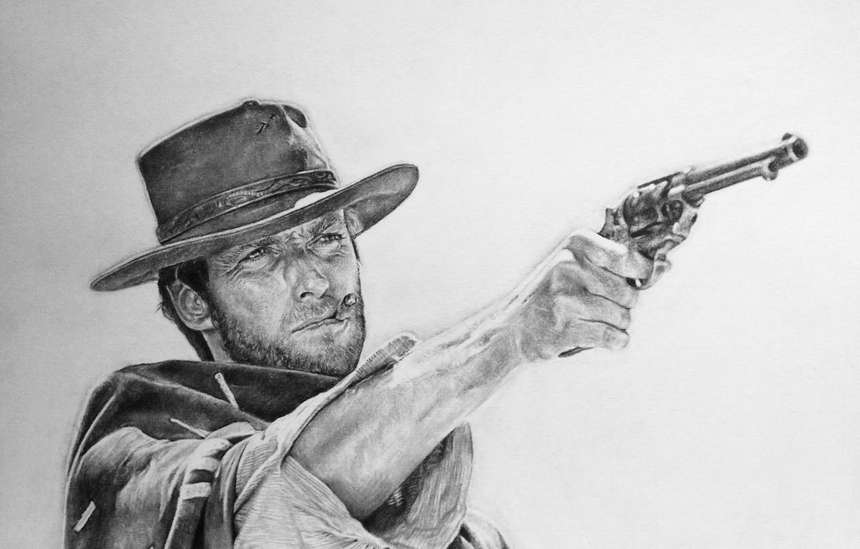 Wallpaper Figure Revolver Western Clint Eastwood Clint
