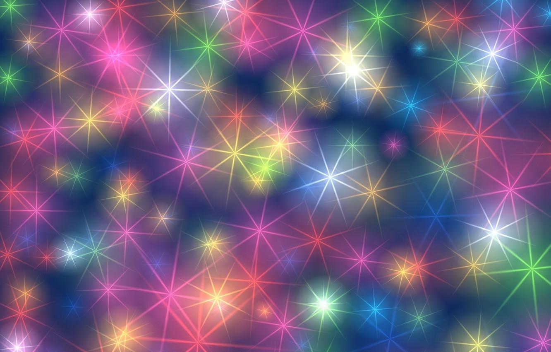 Photo wallpaper stars, line, glare, brightness
