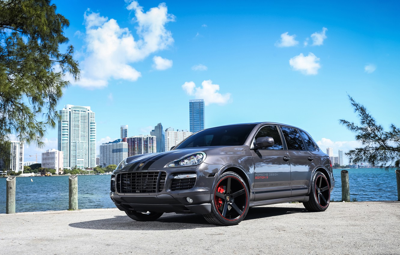 Photo wallpaper Porsche, City, Cayenne, GTS
