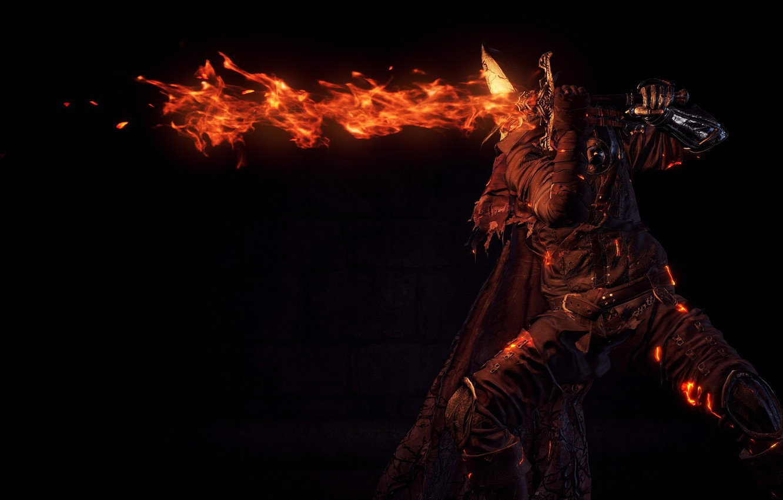 Wallpaper fire, flame, sword, game, armor, ken, blade, Dark
